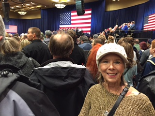Celine Nugent at the Donald Trump rally in Reno,