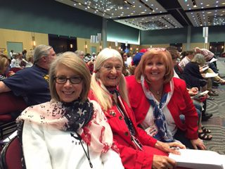 Celine Nugent, Joanellen Slocumb and friend Kathi Clark at the Nevada State Convention
